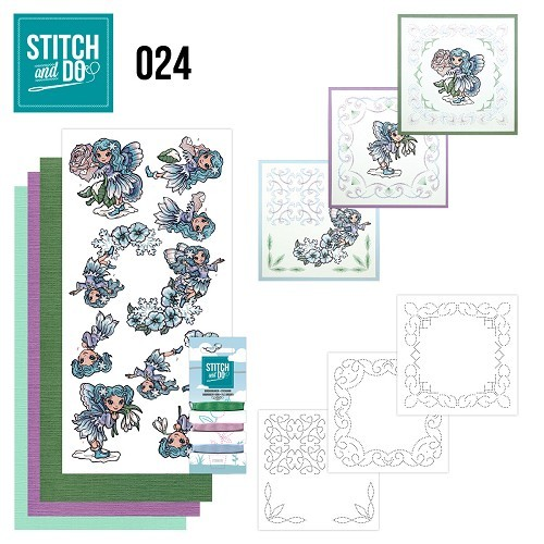 Borduurpakketje Stitch and Do 24 - Fairies