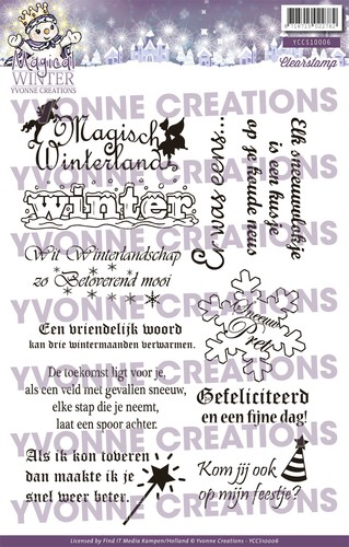 Clearstamp - Yvonne Creations Magical winter - Tekst