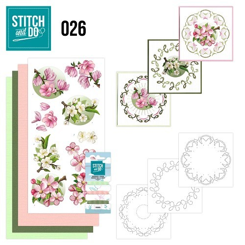 Borduurpakketje Stitch and Do 26 - Spring Flowers