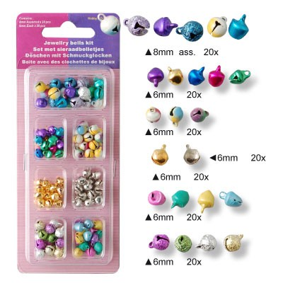 Assortiment set Belletjes 6-8mm