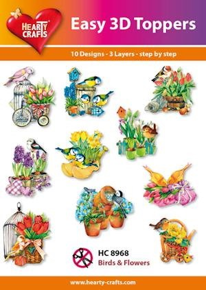 Easy 3D Toppers Birds & Flowers