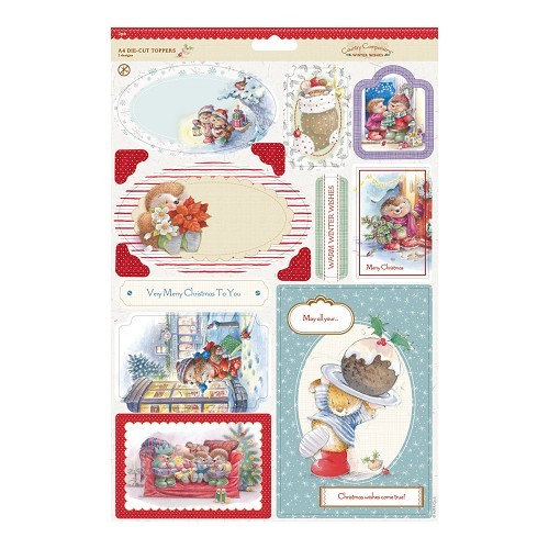 Docrafts Country Companions uitdrukvellen 2 pack Winter Wishes