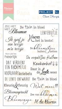 MD Clear stamp Project NL - bloemen