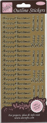 Docrafts Stickervel Happy Christmas Gold