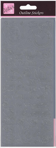 Docrafts Stickervel Tea Time Mat Silver