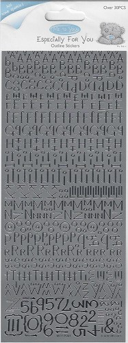 Docrafts Stickervel Alphabet Silver