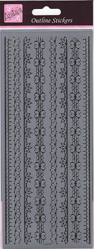 Docrafts Stickervel Timeless Borders Silver
