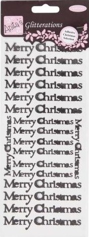 Docrafts Stickervel Merry Christmas Glitter Black