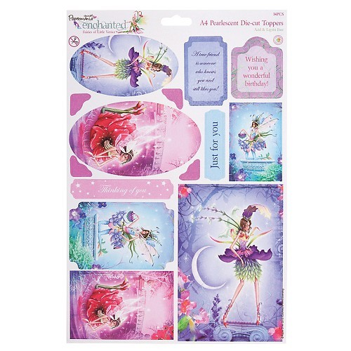 Docrafts A4 Die-Cut Toppers Enchanted Fairies Amethyst