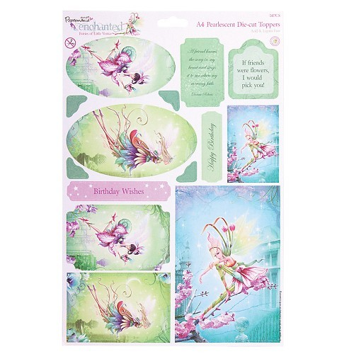 Docrafts A4 Die-Cut Toppers Enchanted Fairies Topaz