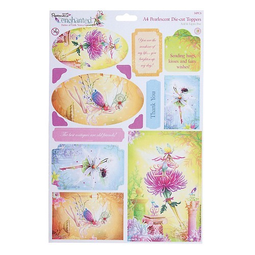 Docrafts A4 Die-Cut Toppers Enchanted Fairies Citrine