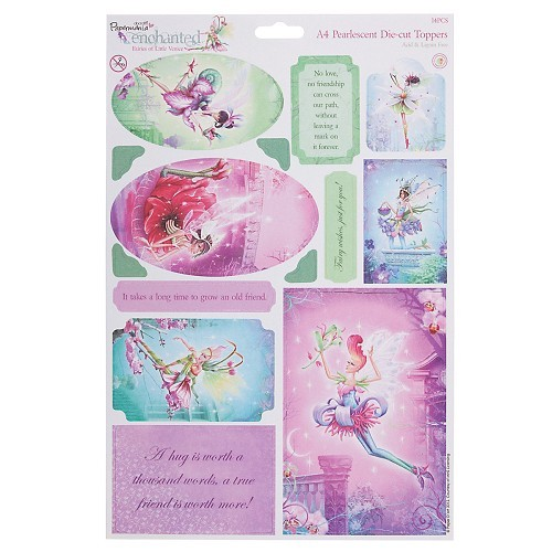Docrafts A4 Die-Cut Toppers Enchanted Fairies Rose Quartz