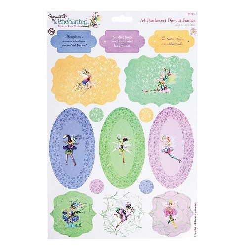 Docrafts A4 Die-Cut Pearlescent Frames Enchanted Fairies