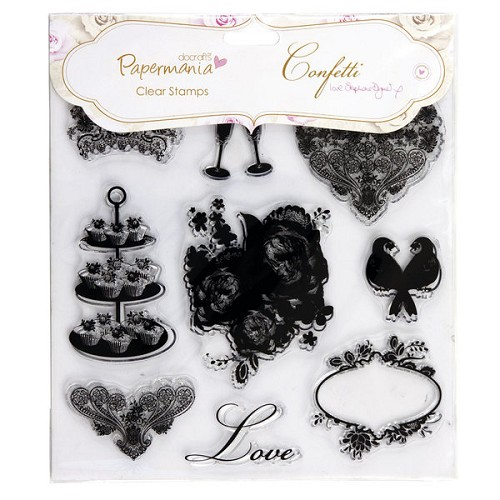 Docrafts Clear stamp set Confetti Love