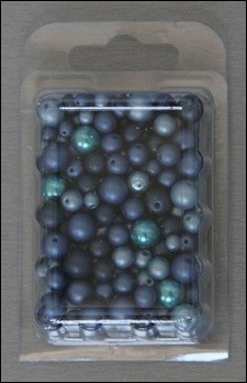 Kralen Parel mix circa 50 gram Blauw