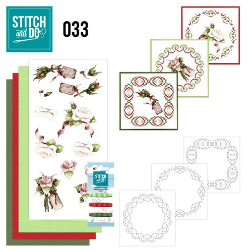 Borduurpakketje Stitch and Do 33 - Roses