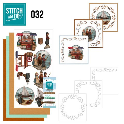 Borduurpakketje Stitch and Do 32 - Oud Hollands
