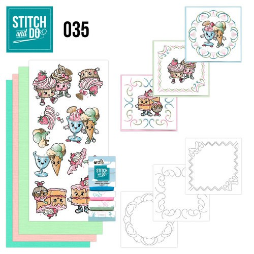 Borduurpakketje Stitch and Do 35 - Cupcakes