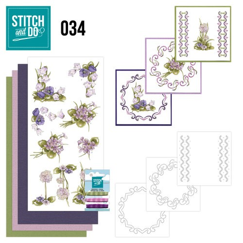 Borduurpakketje Stitch and Do 34 - Field flowers