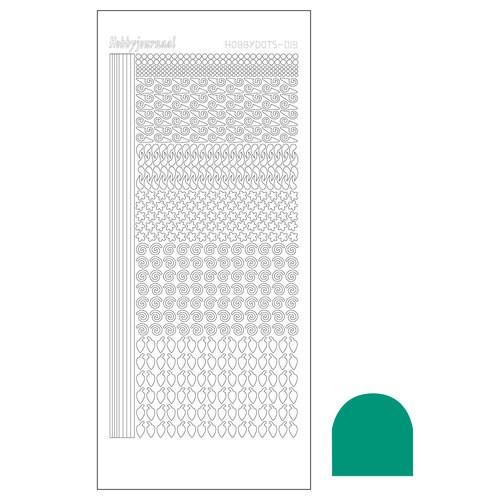 Hobbydots stickervel Serie 19 Mirror Emerald