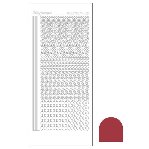 Hobbydots stickervel Serie 19 Mirror Christmas Red