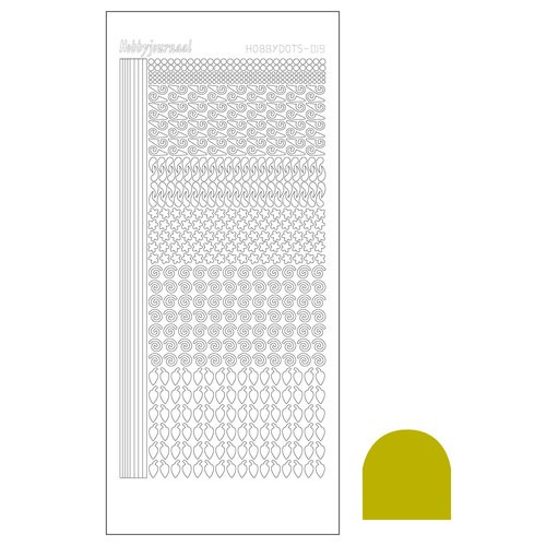 Hobbydots stickervel Serie 19 Mirror Yellow