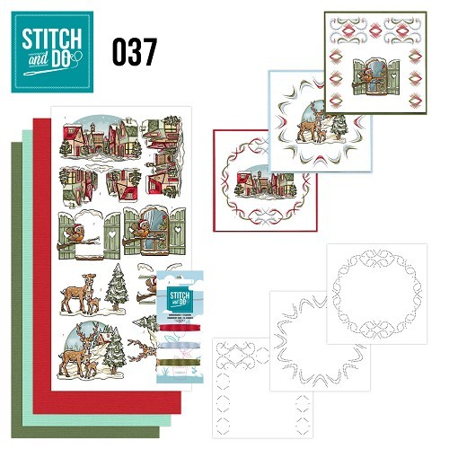 Borduurpakketje Stitch and Do 37 - Kerstversieringen