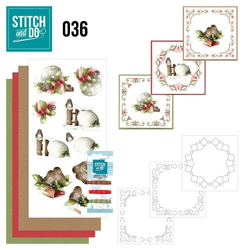Borduurpakketje Stitch and Do 36 - Kerstversieringen
