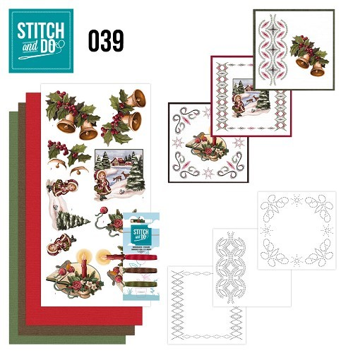Borduurpakketje Stitch and Do 39 - Christmas Greetings
