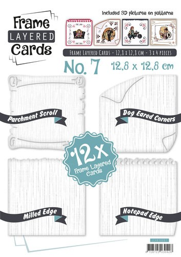 Boek Frame Layered Cards 7 - 4K