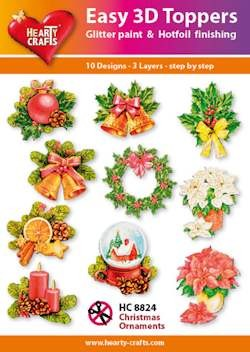 Easy 3D Toppers Christmas Ornaments