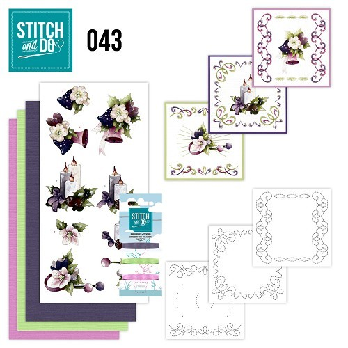 Borduurpakketje Stitch and Do 43 - Purple Colored Christmas