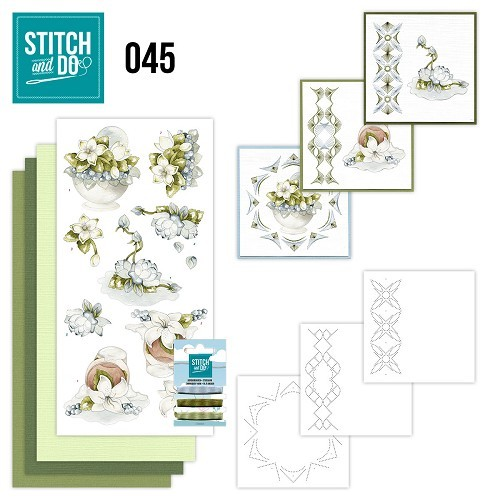 Borduurpakketje Stitch and Do 45 - Winterflowers