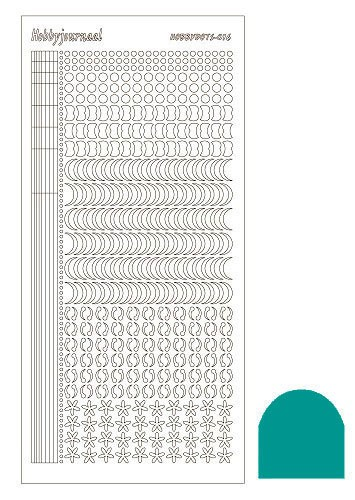 Hobbydots stickervel Serie 16 Mirror Emerald