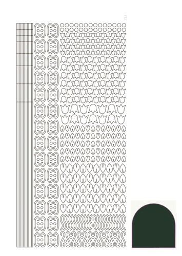 Hobbydots stickervel Serie 12 Mirror Christmas Green (Mosgroen)