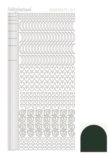 Hobbydots stickervel Serie 17 Mirror Christmas Green (Mosgroen)