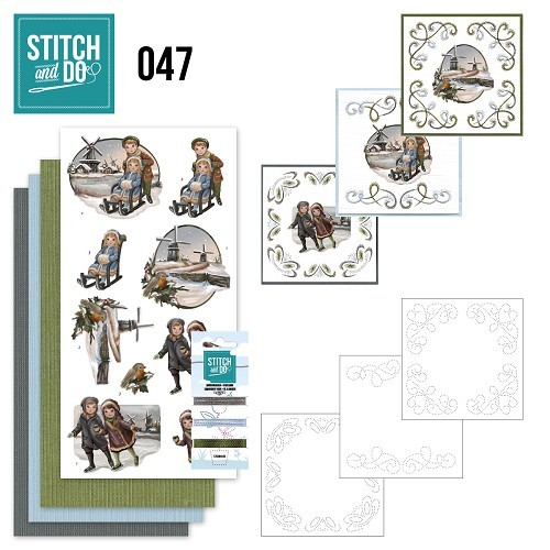 Borduurpakketje Stitch and Do 47 - Winterglow