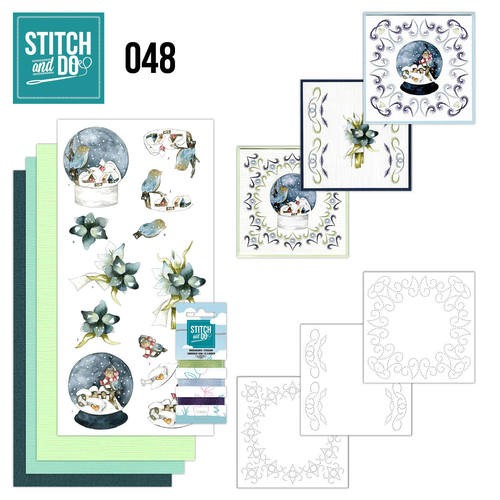 Borduurpakketje Stitch and Do 48 - winterfun