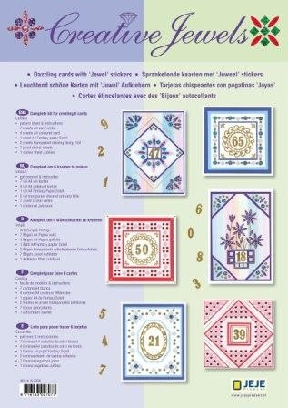 JEJE Creative Jewels Card Kit Jubileum