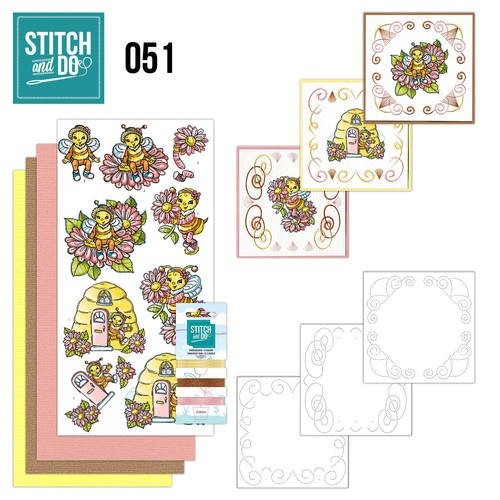 Borduurpakketje Stitch and Do 51 - Bijtjes