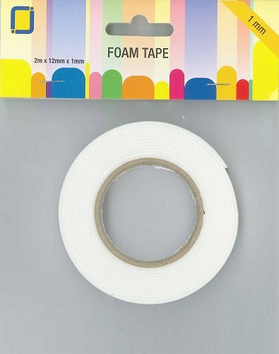 JEJE Foam tape 1 mm dik - 12 mm x 2 mtr