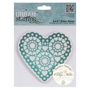 Urban Rubber stempel Vintage Notes Heart