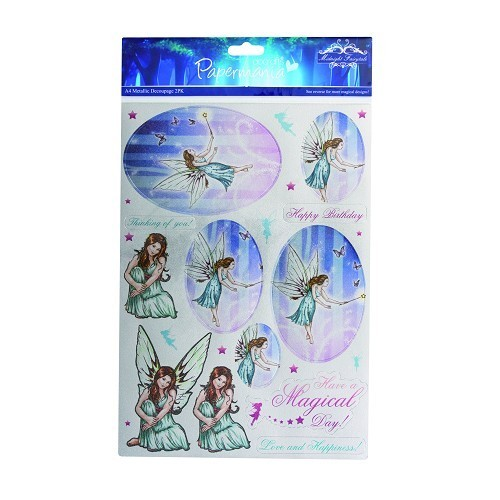 A4 metallic stansvellen - midnight fairytale (fairies) 2pk