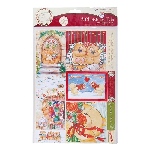 Forever Friends A4 Foiled Toppers Pack (2Pk) A Christmas Tale (Joyful Season)