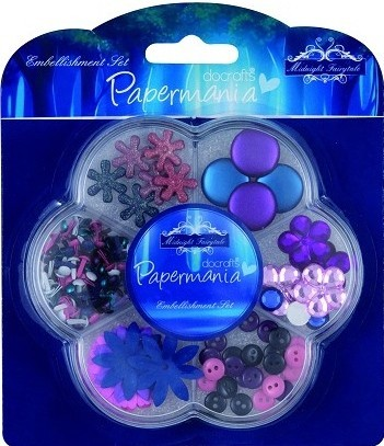 Docrafts Embellishment Set Midnight Fairytale