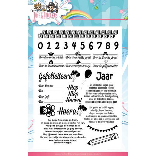 Clearstamp - Yvonne Creations - Tots and Toddlers Tekst