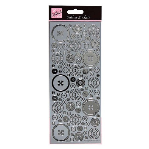 Anita's Stickervel Blooming Buttons Zilver