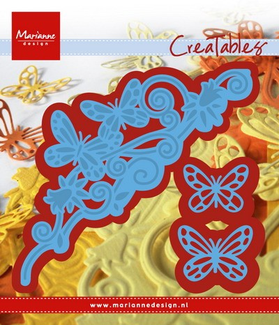 MD Creatables stencil butterfly border