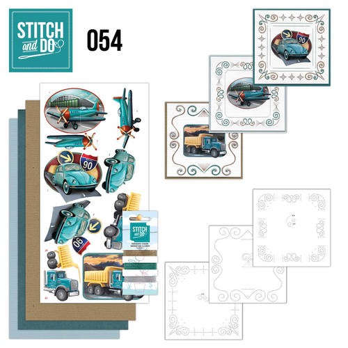 Borduurpakketje Stitch and Do 54 - Vintage Vehicles