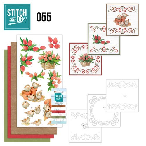 Borduurpakketje Stitch and Do 55 - Garden Classics